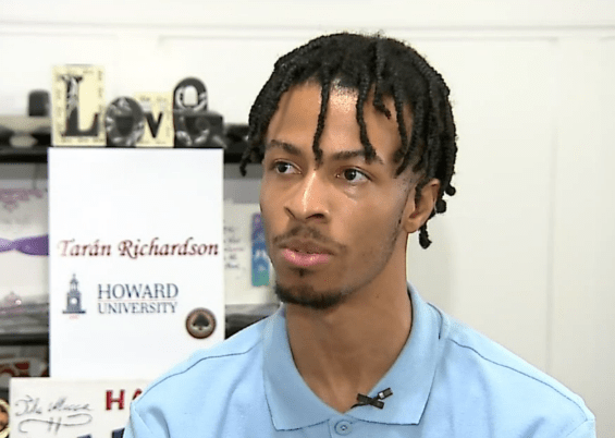 Taran Richardson, accepted to 65 colleges.