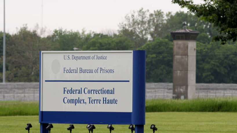 The federal prison in Terre Haute