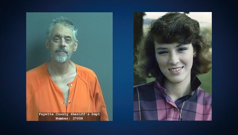 Mugshot of Shawn McClung + Headshot of Denise Pflum from 1986