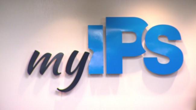 """Indianapolis Public Schools logo, """"myIPS"""""""