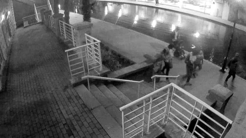 A group of people hanging out on the downtown canal. One of them may have killed Jessica Doty Whitaker