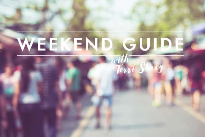 People walking down the street, Weekend Guide with Terri Stacy