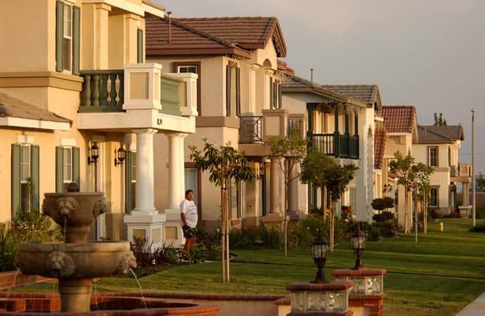 A row of houses.