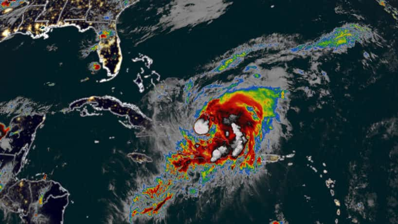 Isaias is heading toward the US as the season's second hurricane.