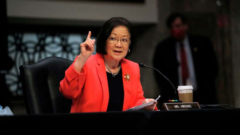U.S. Sen. Mazie Hirono (D-HI) speaks at a hearing of the Judiciary Committee considering authorization for subpoenas relating to the Crossfire Hurricane investigation on June 11, 2020 in Washington, DC. Crossfire Hurricane was the code name for the FBI counterintelligence investigation that looked into links between Trump associates and Russian officials in the 2016 presidential election. (Photo by Carolyn Kaster-Pool/Getty Images)