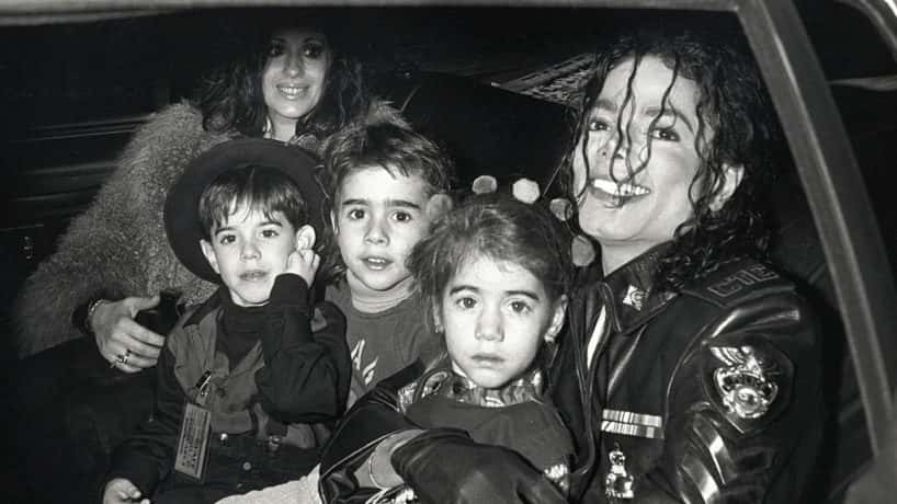 "Singer Michael Jackson and children attend ""Dangerous"" Tour Press Conference on February 14, 1992 at Radio City Music Hall in New York City. (Photo by Ron Galella/Ron Galella Collection via Getty Images)"