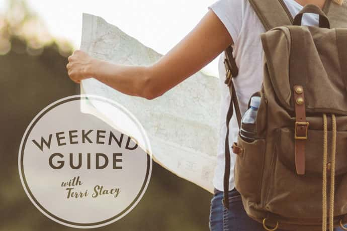 Girl holding a map. Weekend Guide with Terri Stacy