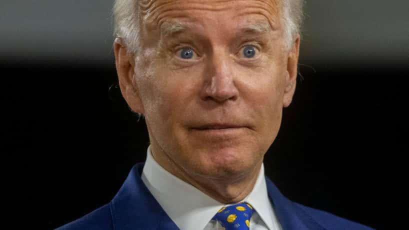 President-elect Joe Biden receives word that Democrats' plan to steal the 2020 election is unravelling. (Photo by Mark Makela/Getty Images)