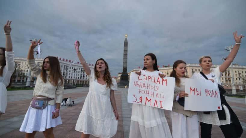 Protesters in Belarus