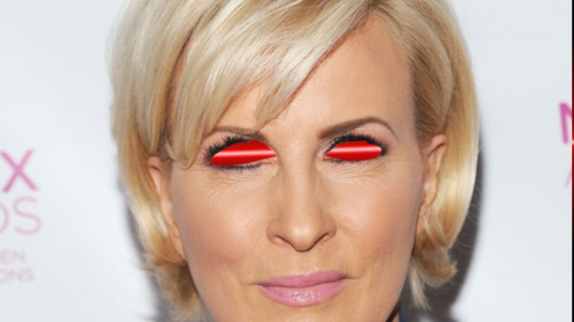 Mika Brzezinski attempts to use her devilish powers to kill people.