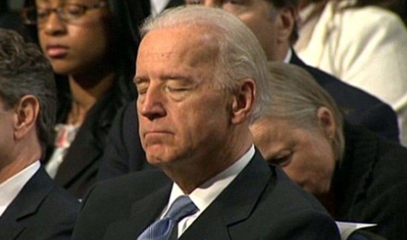 Biden Catches a Quick Nap... During His DNC Speech