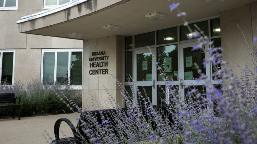 BLOOMINGTON, IN - JULY 10: The Indiana University Health Center is seen in Bloomington, Indiana on July 10, 2020.