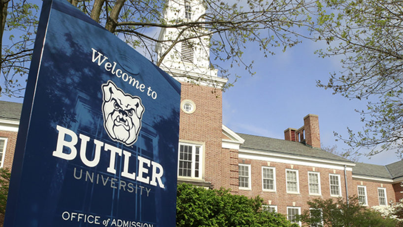 Butler University sign