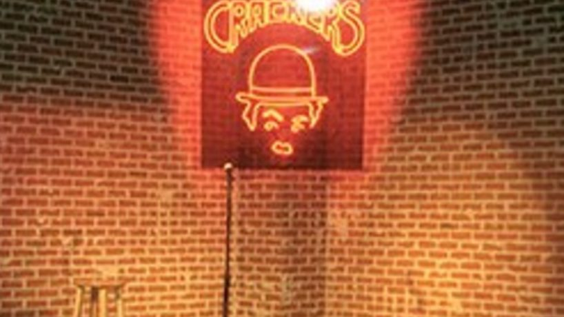 The logo for Crackers Comedy Club in downtown Indianapolis.