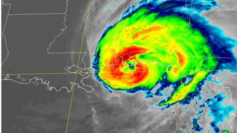 Hurricane Sally making landfall