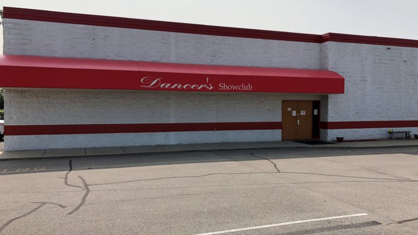 The outside of Dancers Showclub on Indy's west side