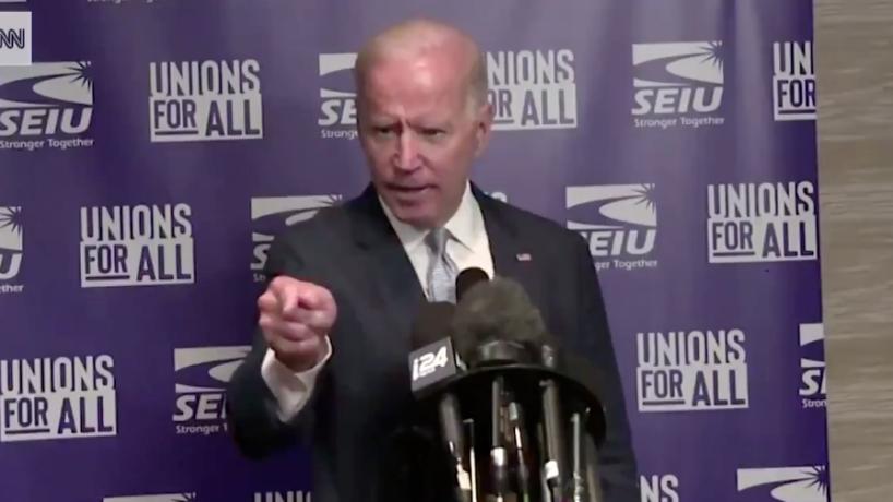 Former Vice President Joe Biden Yells at Reporters.