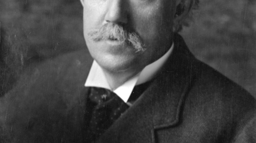 Portrait of former Indiana University president David Starr Jordan