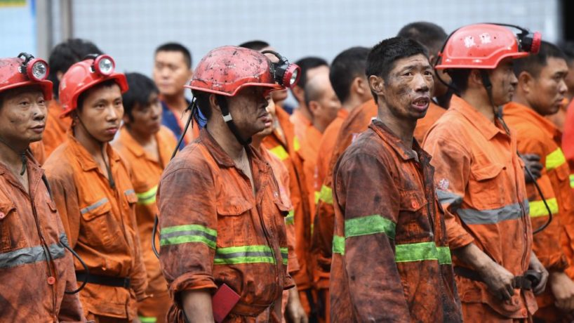 Chinese coal mine workers