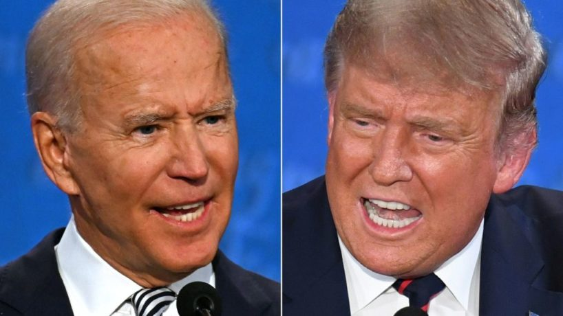 Joe Biden and President Trump