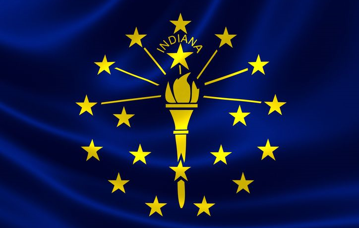 A photo of the Indiana state flag