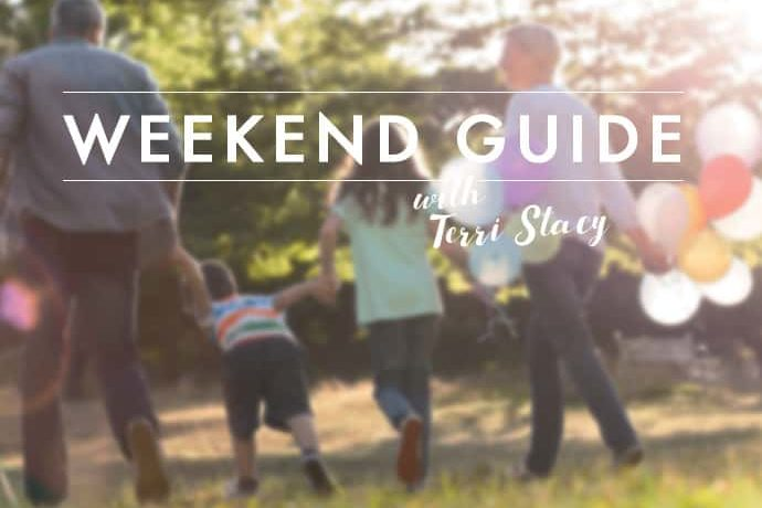 Family holding hands, Weekend Guide with Terri Stacy