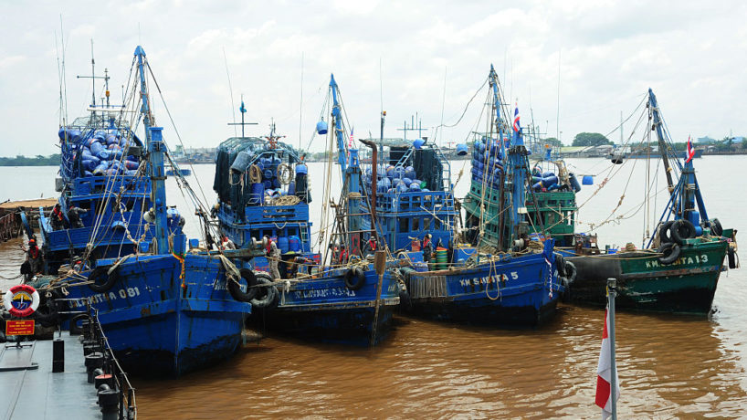 Seized fishing boats