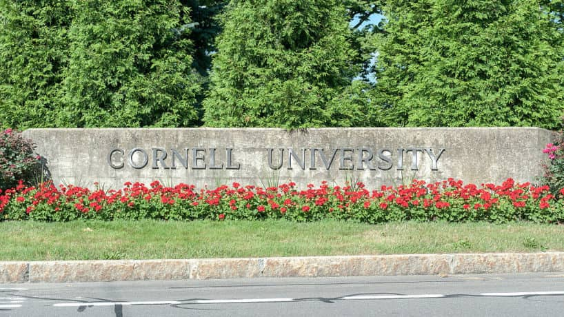 Cornell University Campus Entrance is Shown in July of 2013.