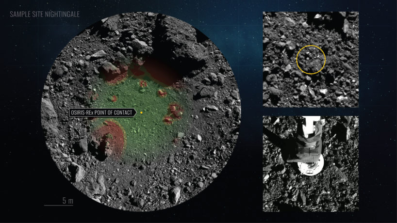 Graphic of asteroid mission