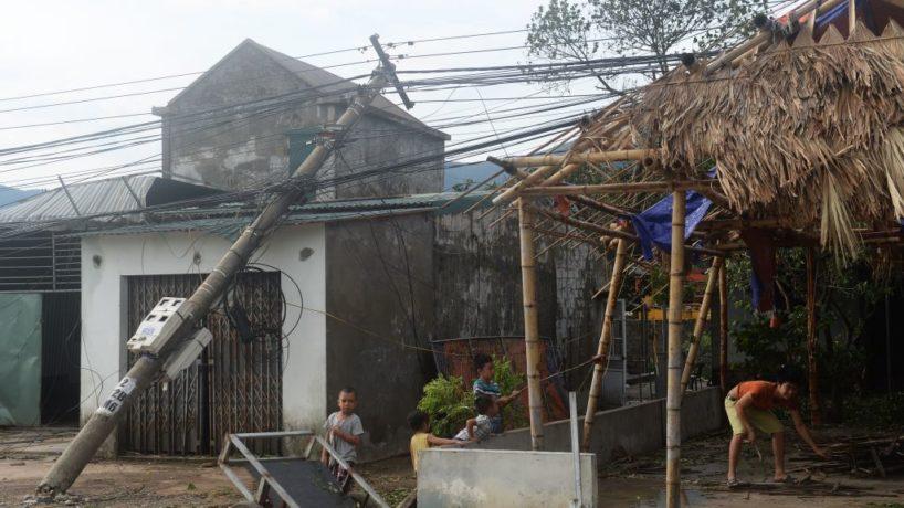 Typhoon damage in Vietnam