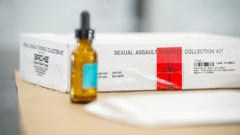 A picture of a sexual assault kit via Getty Images
