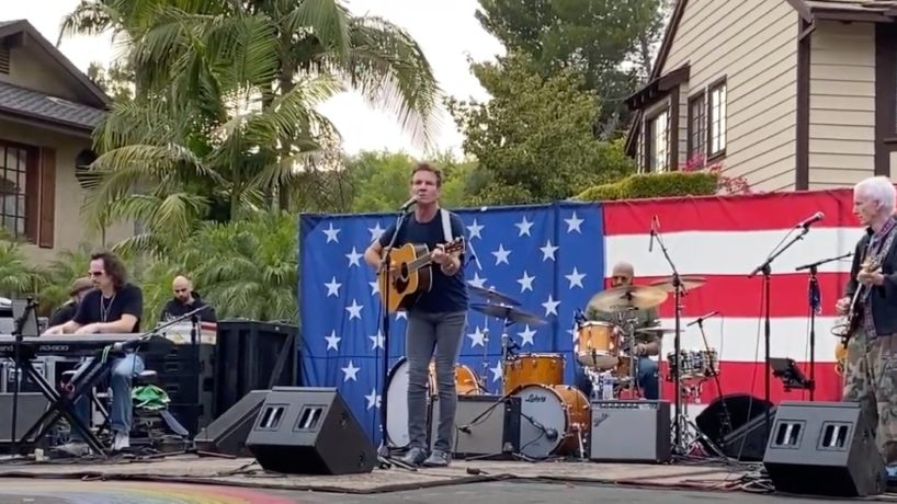 "Dennis Quaid sings ""America, I Love You Too."""