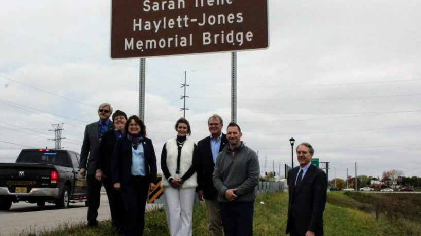 The dedication of the bridge for Haylett-Jones.