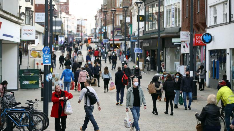 People walking around in Europe