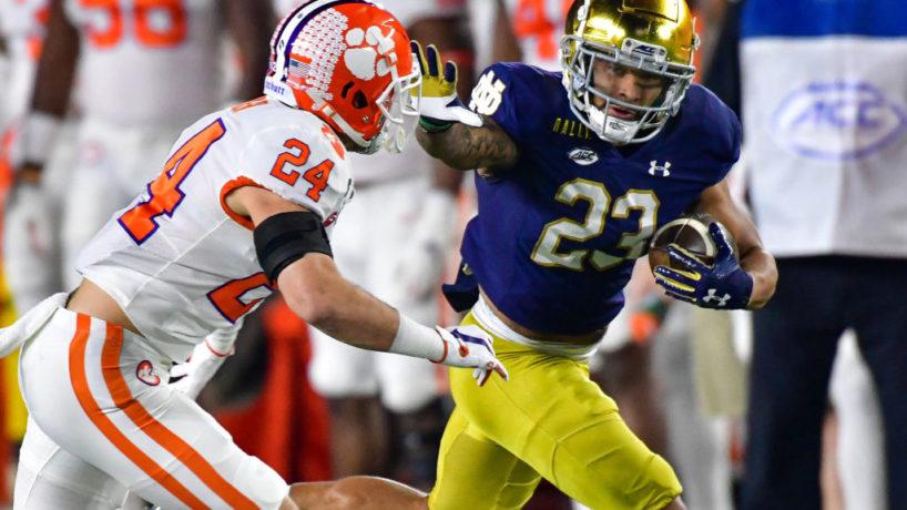 Kyren Williams running for a touchdown