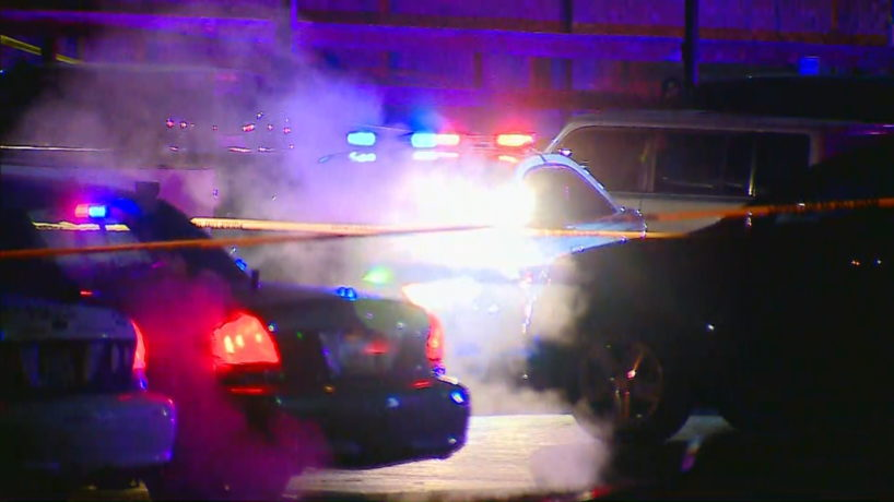 The scene of a shooting involving an IMPD officer on Nov. 14, 2020.
