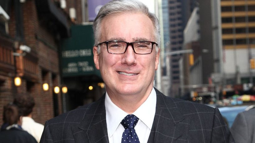 """Keith Olbermann departs """"Late Show with David Letterman"""" at Ed Sullivan Theater on September 11, 2013 in New York City. (Photo by Taylor Hill/FilmMagic)"""