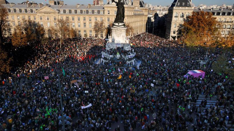 People gathered in Paris