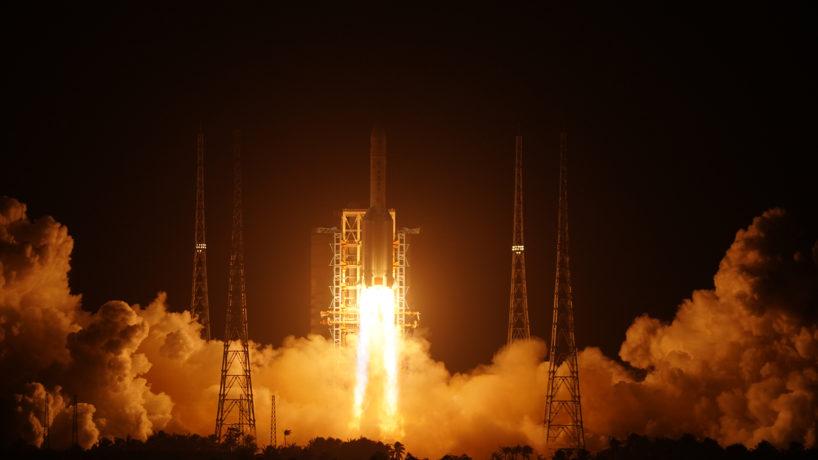 Chinese rocket lifting off