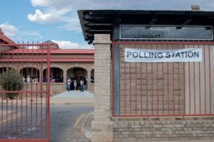 Namibians wait to vote at a polling station during Namibian Presidential and parliamentary elections, on November 27, 2019 in Windhoek. (Photo by HILDEGARD TITUS / AFP) (Photo by HILDEGARD TITUS/AFP via Getty Images)