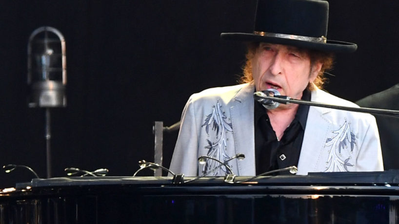 Bob Dylan performs as part of a double bill with Neil Young at Hyde Park on July 12, 2019 in London, England.