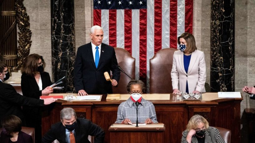 Pence and Pelosi in House chamber