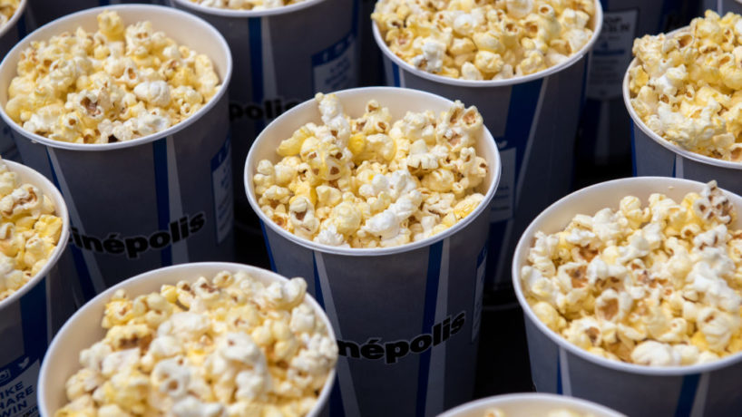 A view of Popcorn buckets served at Cinepolis Chelsea on November 6, 2017 in New York City.