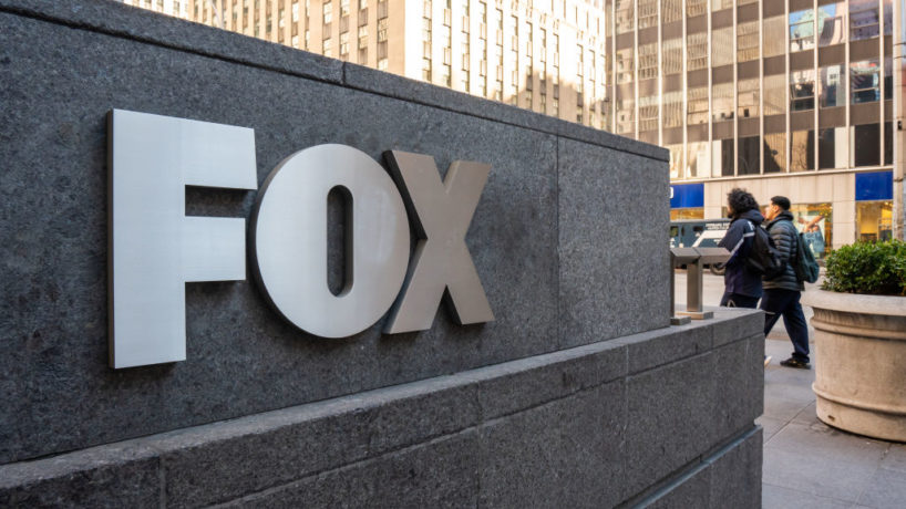 A view of an american conservative cable television news channel Fox News logo. (Photo by Alex Tai/SOPA Images/LightRocket via Getty Images)
