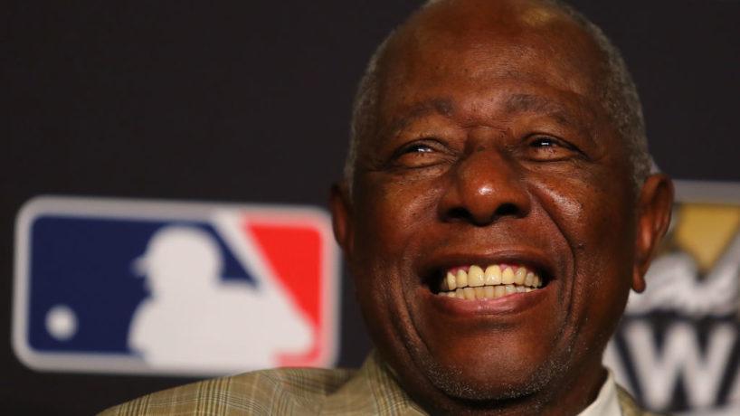 Hank Aaron smiles in a recent photo