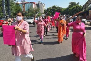 Women in India protesting