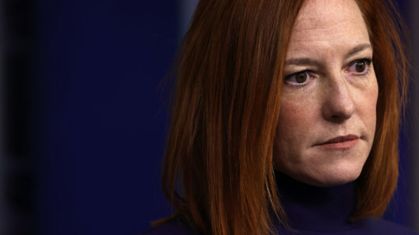 White House Press Secretary Jen Psaki speaks during a news briefing at the James Brady Press Briefing Room of the White House February 8, 2021 in Washington, DC. During the briefing Psaki answered questions from members of the press.