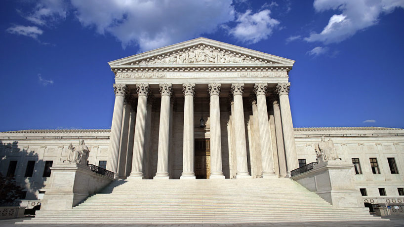 The United States Supreme Court building is shown on June 15, 2005, in Washington, DC.
