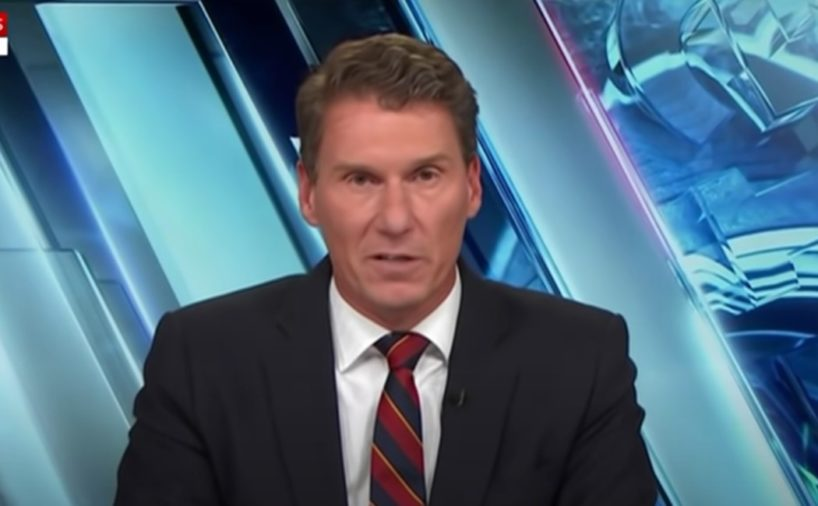 Sky News host Cory Bernardi delivers a commentary on U.S. President Joe Biden in this screen capture from Sky News.