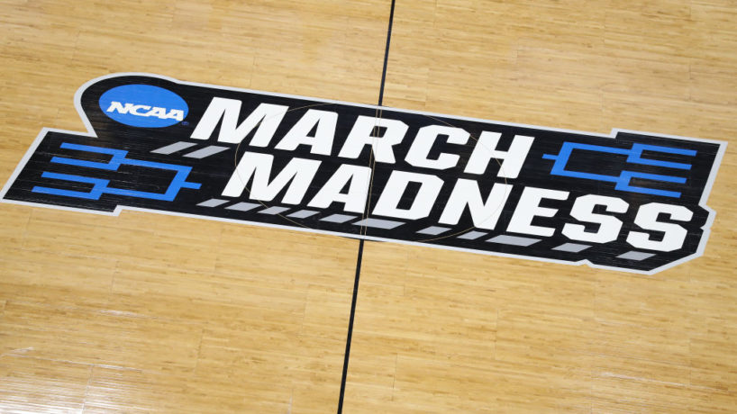 A general view of a 'March Madness' logo.